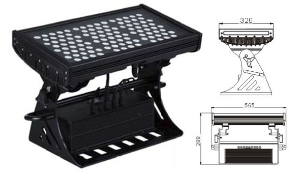 Guangdong led factory,industrial led lighting,250W Square IP65 DMX LED wall washer 1, LWW-10-108P, KARNAR INTERNATIONAL GROUP LTD