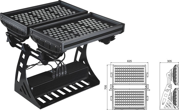Guangdong led factory,led work light,250W Square IP65 RGB LED flood light 2, LWW-10-206P, KARNAR INTERNATIONAL GROUP LTD