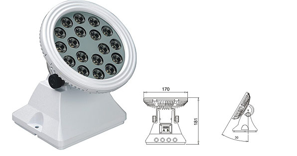 Guangdong vodio tvornicu,vodio reflektor,25W 48W Square LED poplava lisht 1, LWW-6-18P, KARNAR INTERNATIONAL GROUP LTD