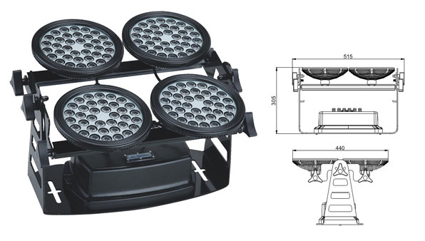 Guangdong led factory,led floodlight,155W Square waterproof LED wall washer 1, LWW-8-144P, KARNAR INTERNATIONAL GROUP LTD