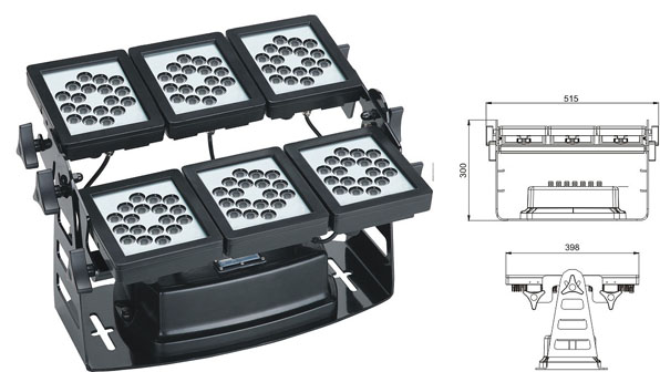 Guangdong led factory,led work light,220W Square waterproof LED wall washer 1, LWW-9-108P, KARNAR INTERNATIONAL GROUP LTD