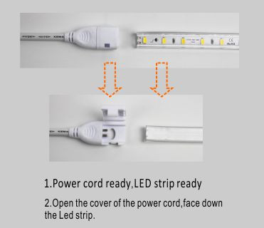 Guangdong led factory,flexible led strip,110V AC No Wire SMD 5730 led strip light 5, install_1, KARNAR INTERNATIONAL GROUP LTD