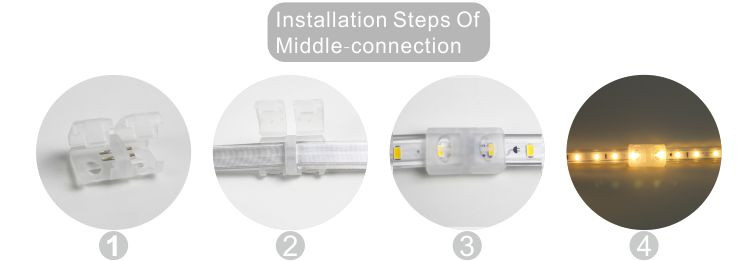 Guangdong led factory,flexible led strip,110V AC No Wire SMD 5730 LED ROPE LIGHT 10, install_6, KARNAR INTERNATIONAL GROUP LTD