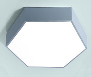 Guangdong led factory,LED project,15W Hexagon led ceiling light 7, blue, KARNAR INTERNATIONAL GROUP LTD