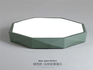 Guangdong vodio tvornicu,Boja makarona,15 W Hexagon je vodio stropnu svjetlost 4, green, KARNAR INTERNATIONAL GROUP LTD