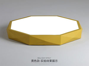 Guangdong led factory,Macarons color,18W Hexagon led ceiling light 6, yellow, KARNAR INTERNATIONAL GROUP LTD