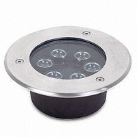 Guangdong led factory,LED buried light,6W Square Buried Light 3, 6x1W, KARNAR INTERNATIONAL GROUP LTD