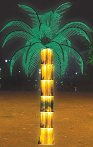 I-LED yesicocon palm tree ukukhanya IKARNAR INTERNATIONAL GROUP LTD